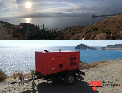 Grupos Electrógenos Almería en rodaje en Almería